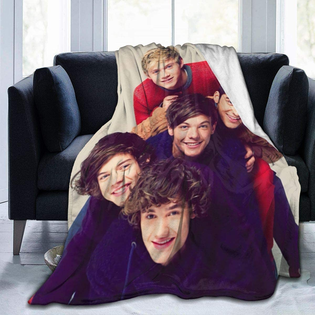 Maxwellmore One Direction Throw Blankets Lightweight Soft Flannel Bed Blanket for Home Sofa 50