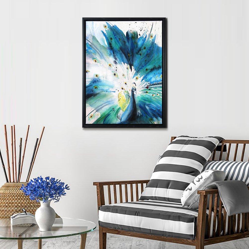 Amazon.com: Framed Abstract Canvas Prints Wall Art-Teal Animal ...