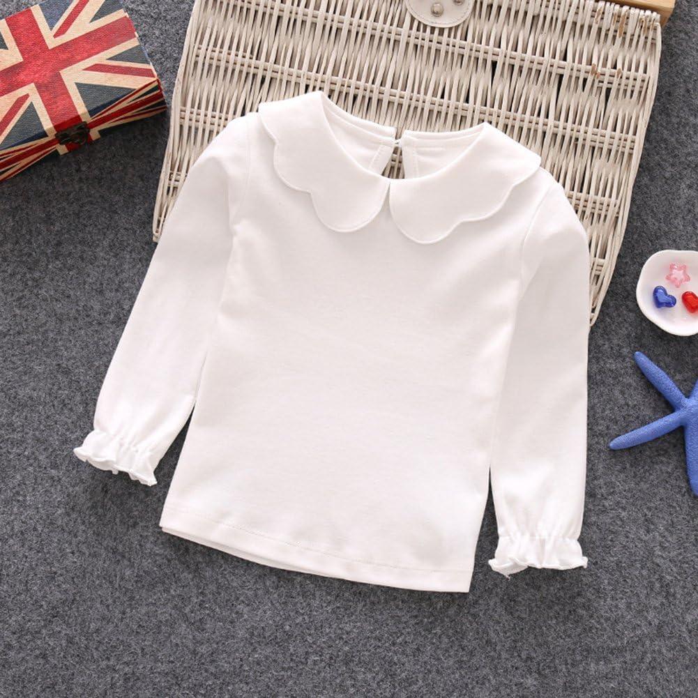 pour enfant Tangbasi T-shirt manches longues et col claudine b/éb/é fille rose rose 70 cm