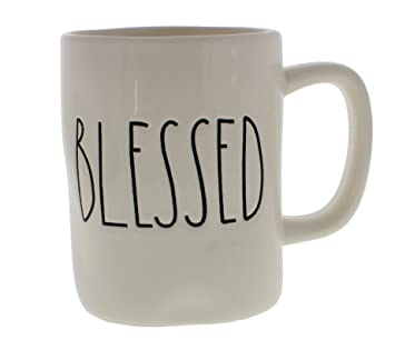 Amazon Com Rae Dunn Magenta Blessed By Rae Dunn Coffee Cups Mugs