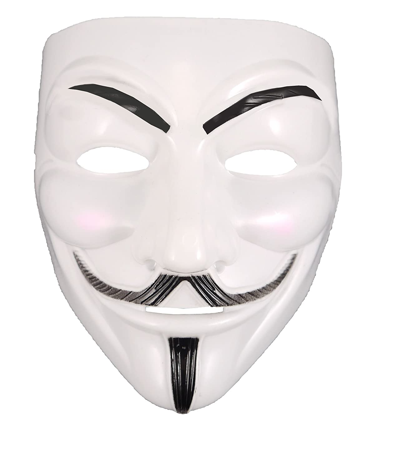 Unisex v for vendetta guy masquerade anonymous hacker halloween face mask amazon co uk toys games