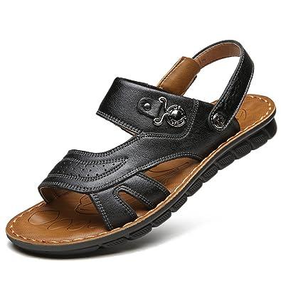 LYZGF Hommes Jeunes Mode Sandales De Plage Pantoufles Respirantes Et Décontractées,Gray-38