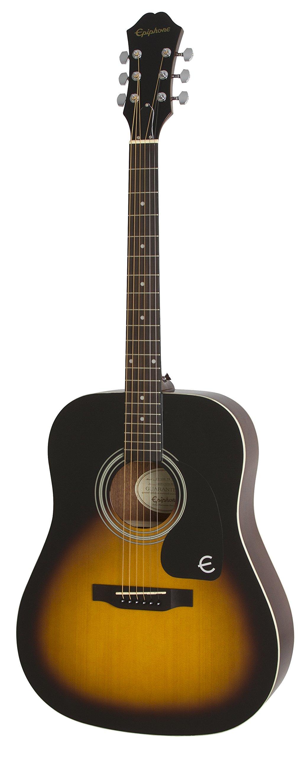 Epiphone FT-100 Acoustic Guitar, Vintage Sunburst by Epiphone