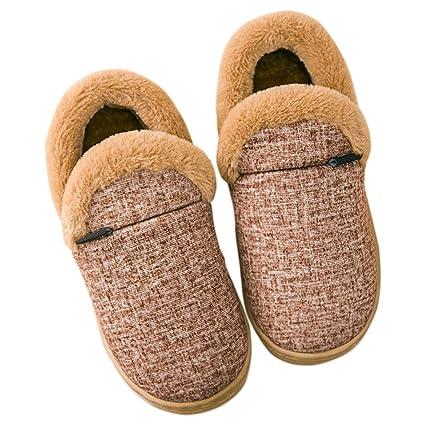 53f045c2a40e18 Pantofole HUXIUPING Borsa Femminile Invernale Cotone con Interno Caldo  Antiscivolo (Colore : Beige, Dimensioni : 39): Amazon.it: Casa e cucina