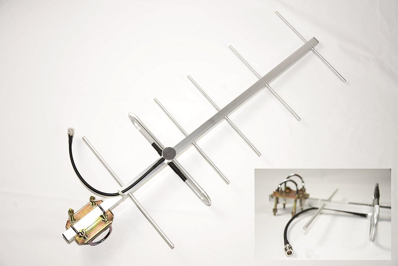 428 ~ 438mhz 10dBi Yagi Antena Conector N-Hembra aluminio