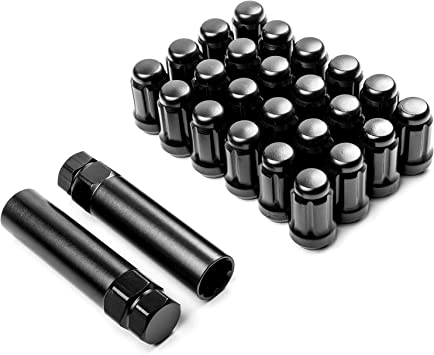 2 pieces of 12X1.5 BLACK TUNER LUG NUTS UNIVERSAL REPLACEMENT LUGNUTS LUGNUT