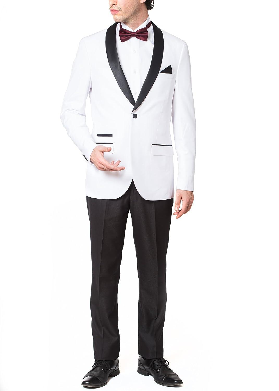 Adam Baker SUIT メンズ B075X141HP 48 Short|ホワイト ホワイト 48 Short