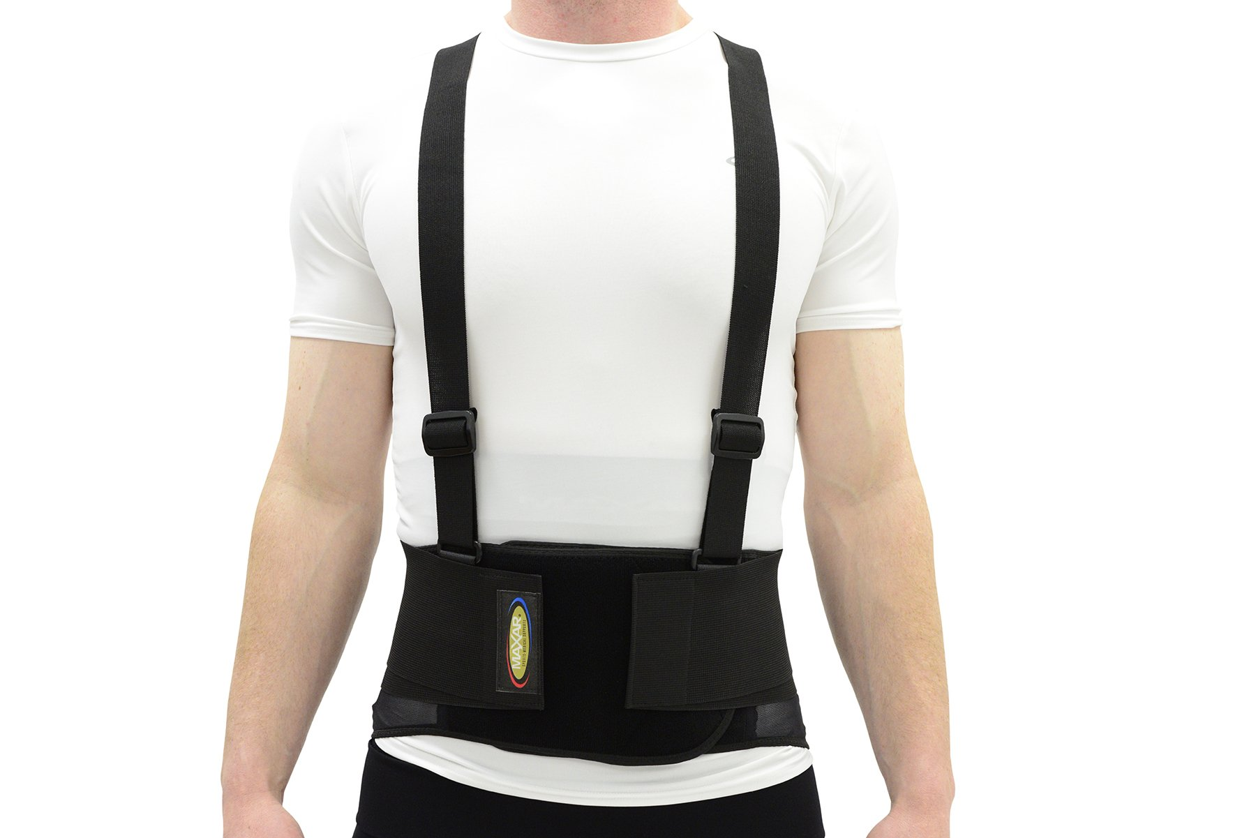 "Maxar IBS-3000 Back Brace Lumbar Support w/Adjustable and Detachable Suspenders Pain Relief High Quality Breathable Back Belt Lower Back Pain Work Lifting Exercise Gym Small 28""-33"" by Maxar"