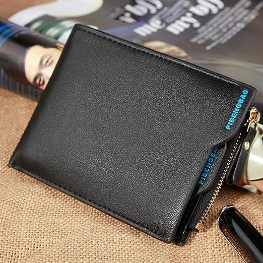 Crylee, portamonete da uomo alla moda con tasca portamonete