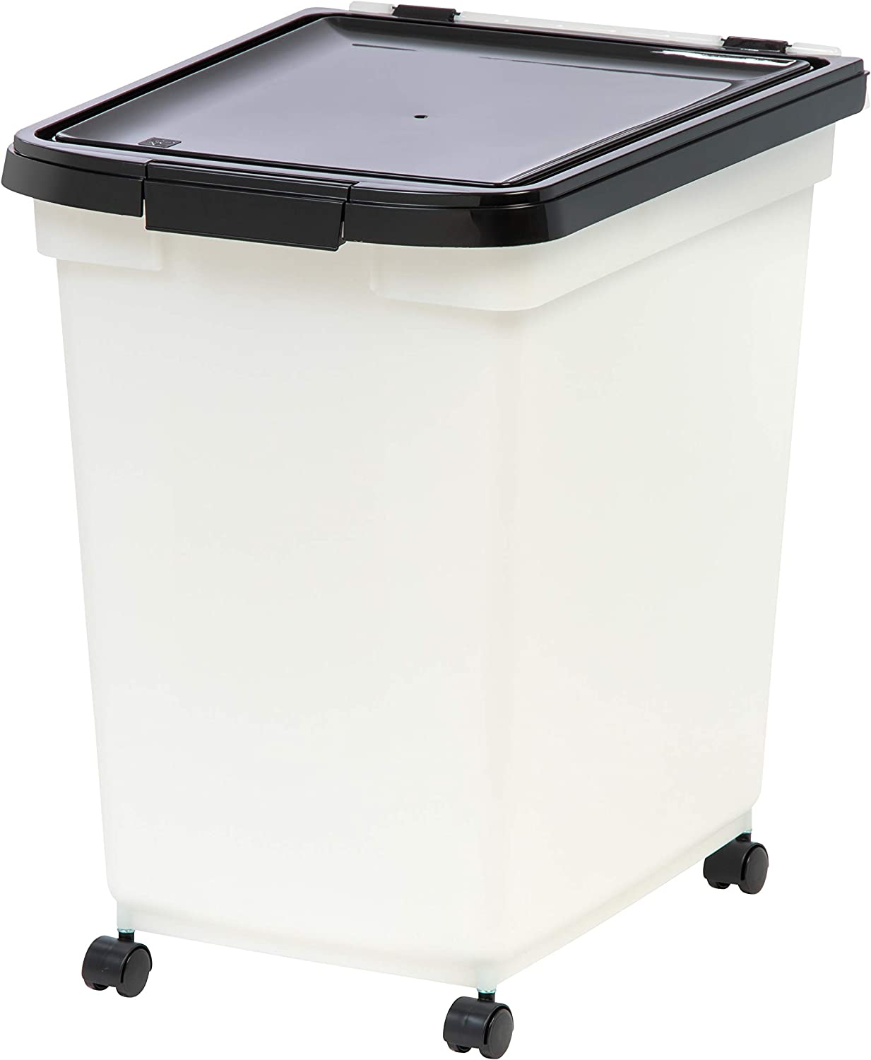 IRIS 65 quart Airtight Pet Food Container, Black