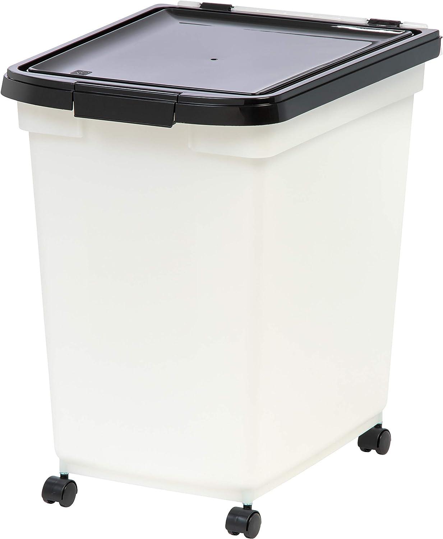 IRIS 65 quart Airtight Pet Food Container, Black