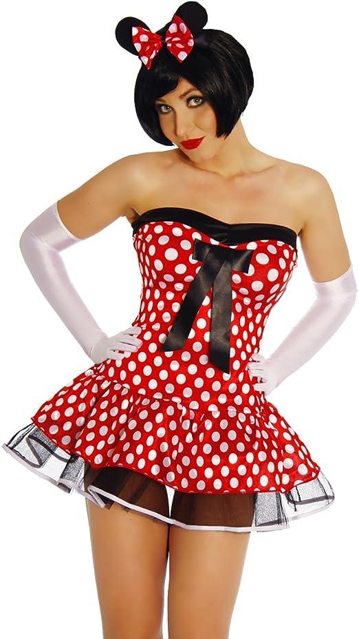 Sexy-M Classic Minnie Mouse Disfraz Mujer Rojo/Blanco XS-M: Amazon ...