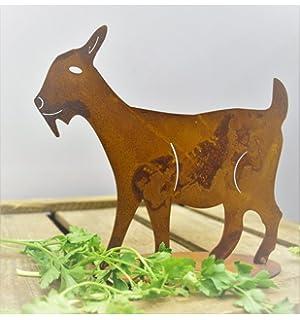 Edelrost Ziege XXL// Gartendeko Rost Gartenstecker Metall Garten Tier