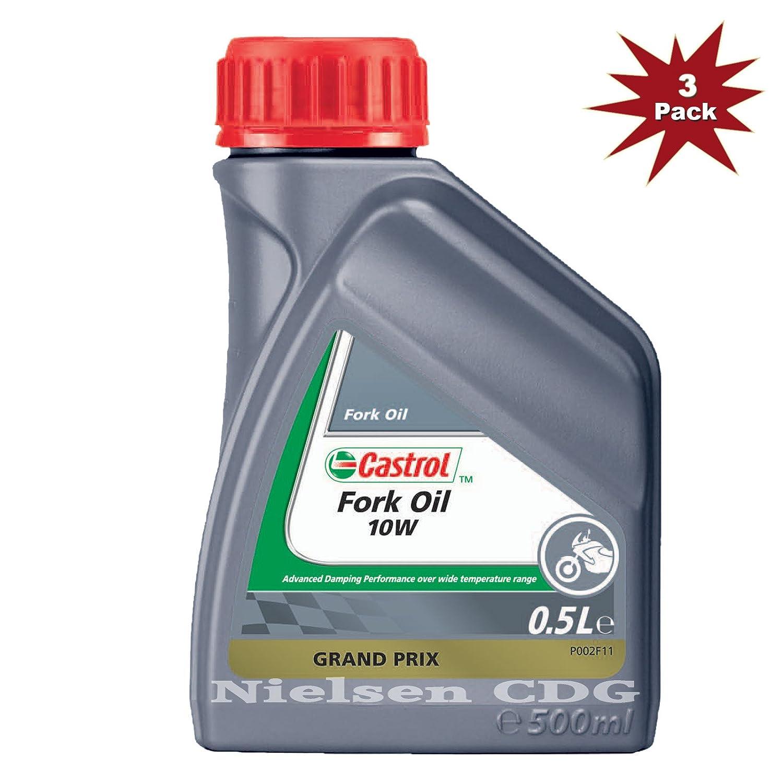 Castrol 10w Fork Oil Mineral 3x500ml= 1.5 Litre Nielsen CDG CAS-1787-7199-3
