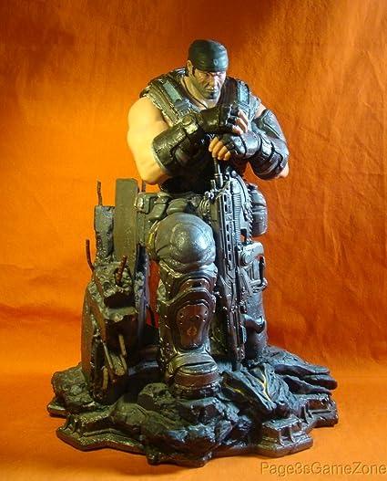 amazon com marcus fenix huge statue figure only gears of war 3