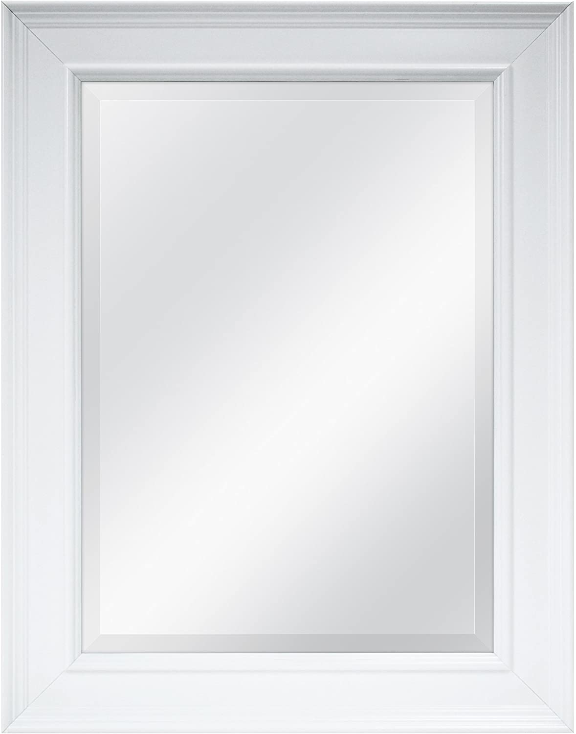MCS Wall Mirror, White: Home & Kitchen