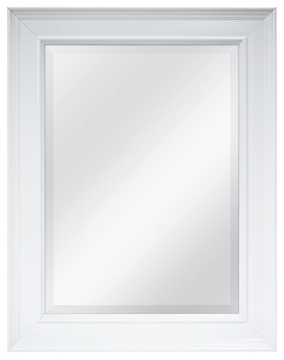 Amazon.com: MCS 15.5x21.5 Inch Beveled Mirror, 22.5x27.5 Inch Overall Size,  White (20450): Home U0026 Kitchen