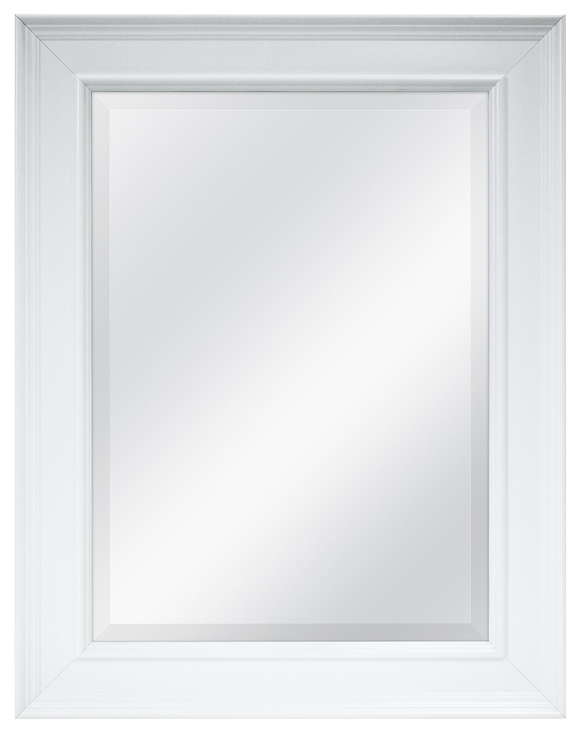 MCS 15.5x21.5 Inch Wall Mirror, 21.5x27.5 Inch Overall Size, White (20450) by MCS