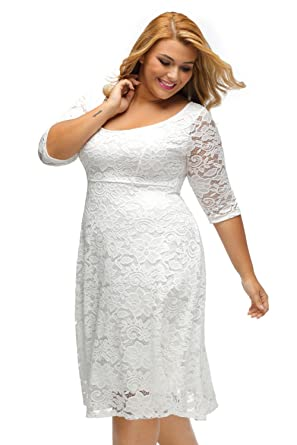 Carolina Dress Vestidos Tallas Grandes Plus Ropa De Moda Para Mujer Sexys Casuales Largos De Fiesta Elegantes Blancos VE0046 at Amazon Womens Clothing ...