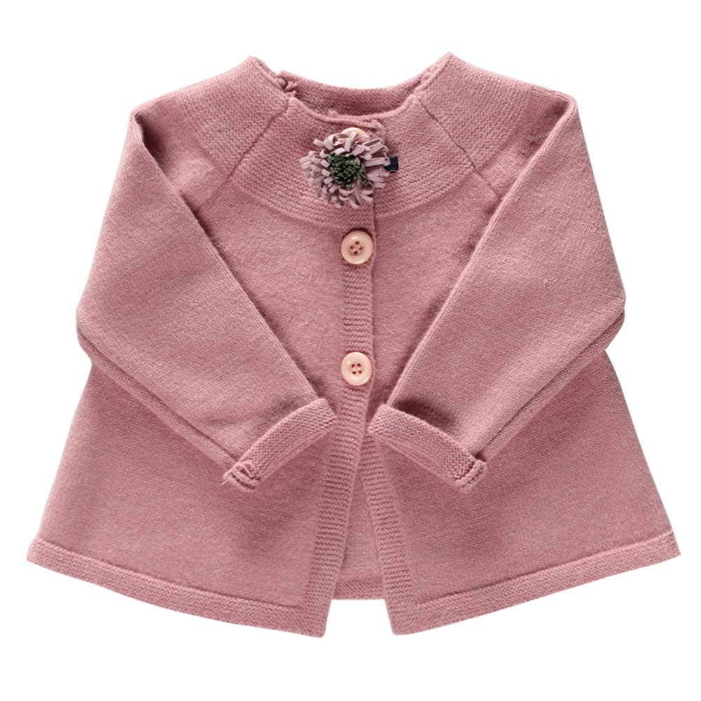 Coodebear Little Baby Girls Wide Hem Cashmere Cardigan Sweater