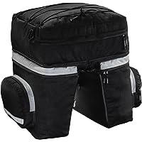 Hama Fietstas voor bagagedrager (3-delige fietstasset, afneembare rugzak, bagagedragertas met twee zijzakken en…