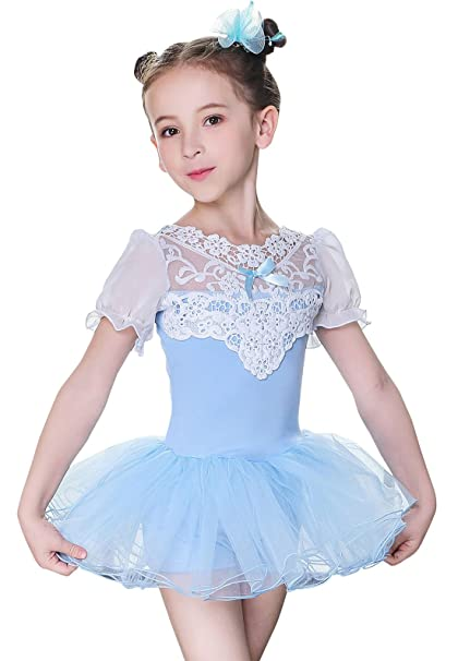 99592f37b Amazon.com   Kefeiyi Girls Ballet Leotard Skirted Ballerina Dress ...