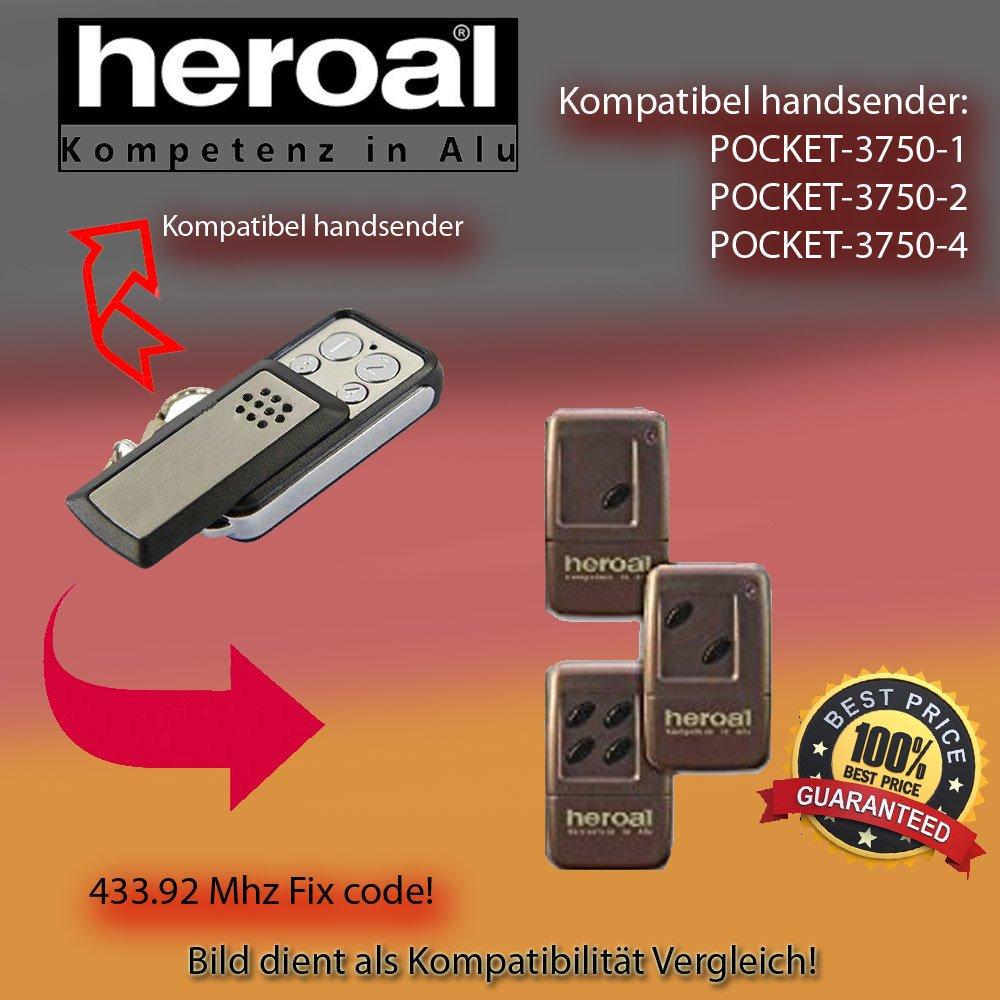 3750-4 Kompatibel Handsender ersatz HEROAL POCKET 3750-2 3750-1 klone