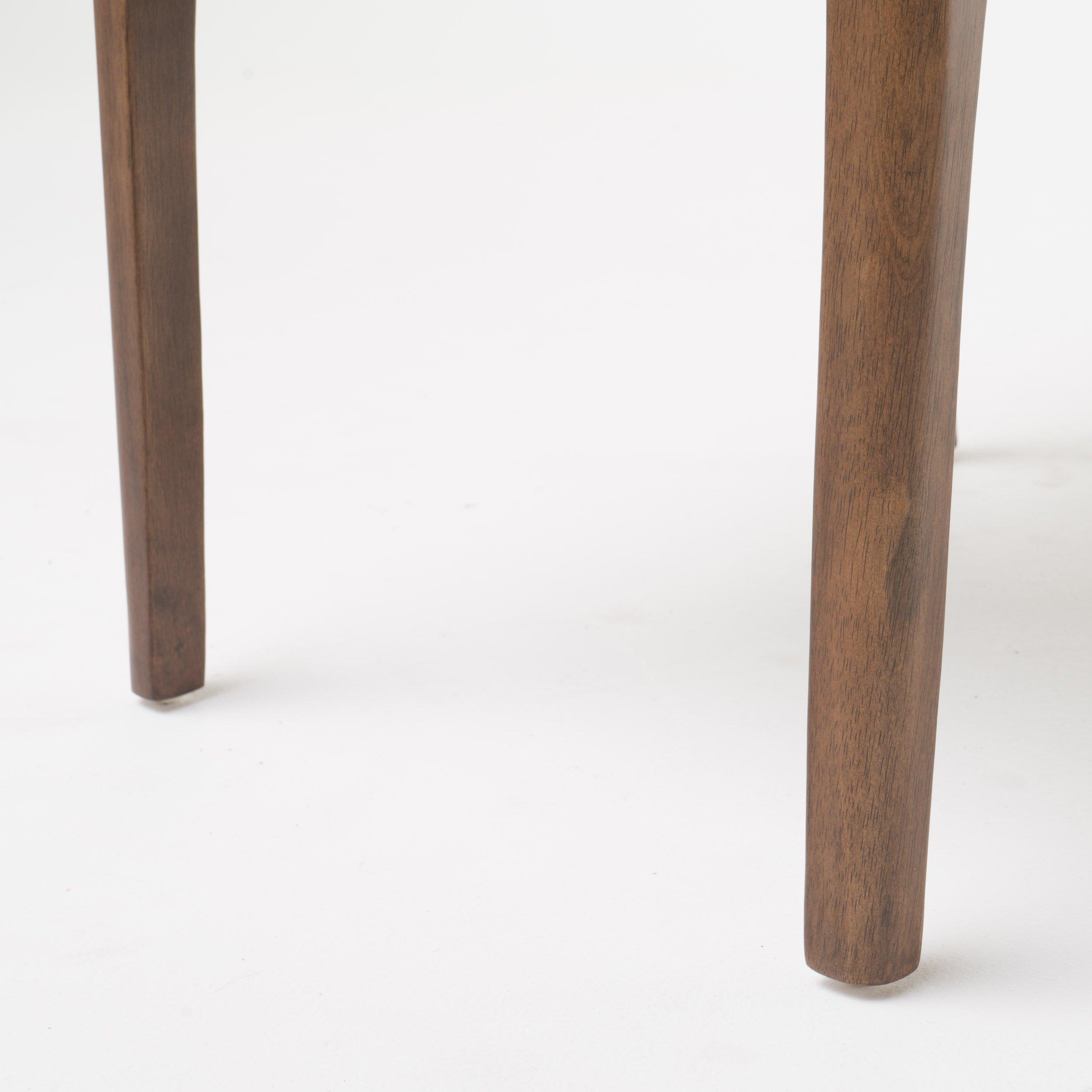 Katherine Dark Grey Fabric/Natural Walnut Finish Curved Leg Rectangular 5 Piece Mid Century Modern Dining Set by GDF Studio (Image #6)