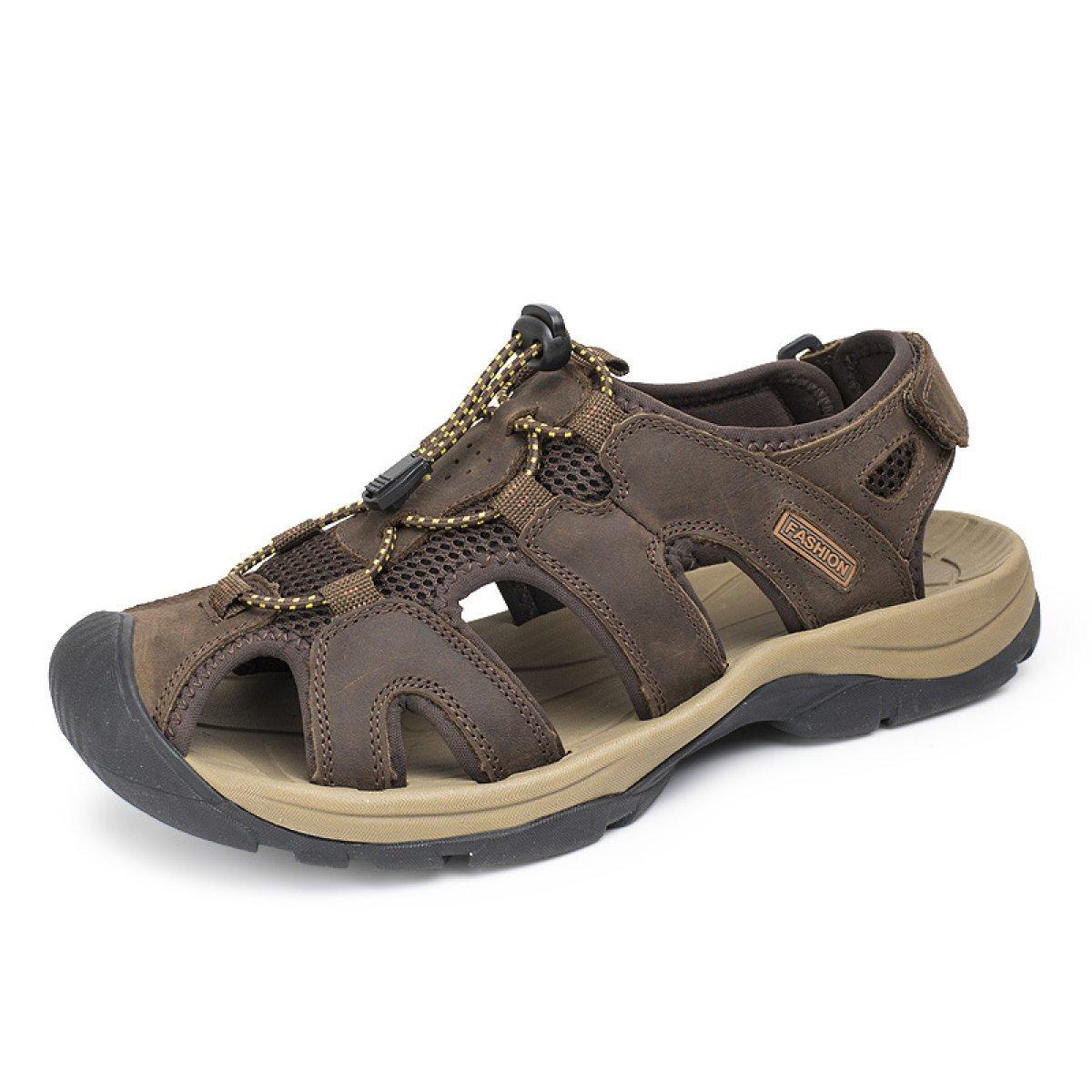 LXXAMens Verano Playa Sandalias Zapatos Al Aire Libre Velcro Zapatos Deportivos,Brown2-46EU 46EU|Brown2