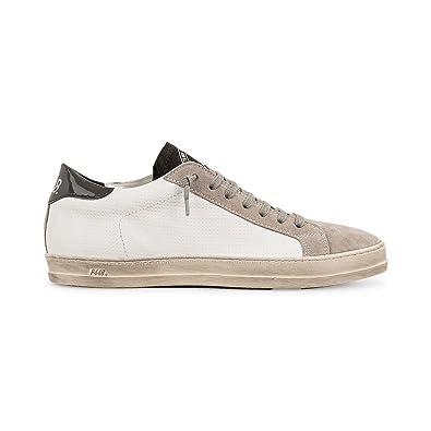 b6d246d5e1e P448 Men s JohnMX Italian Leather White Sneaker EU 41 US 8-8.5 ...