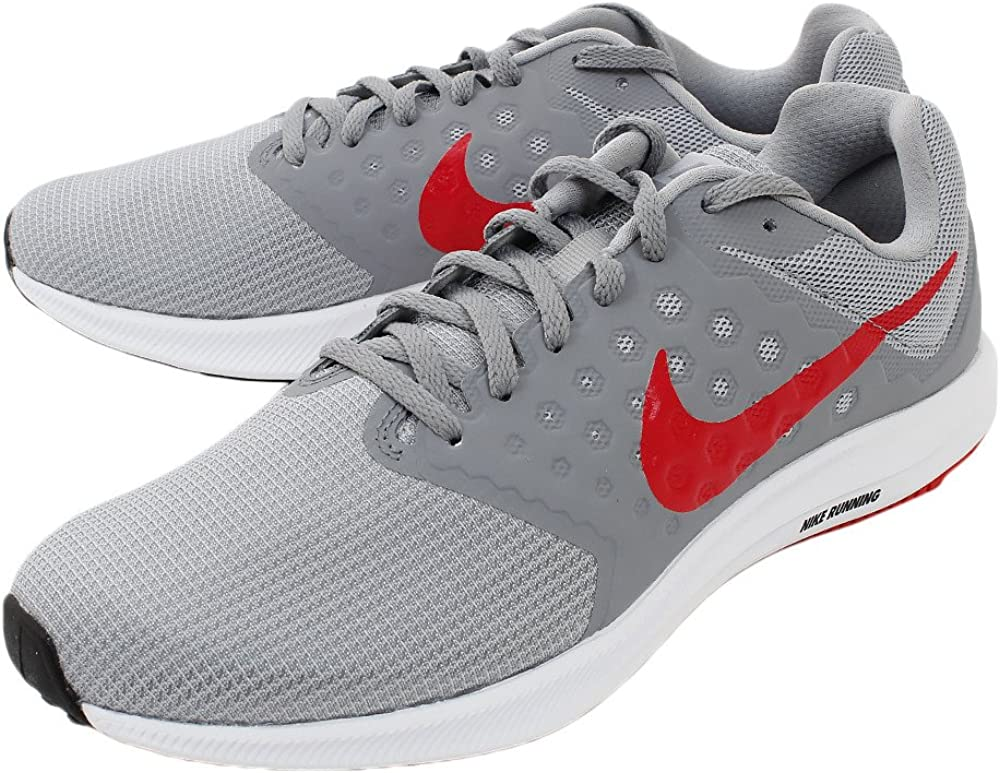 Nike Men s Downshifter 7 Running Shoe Grey Medium Red
