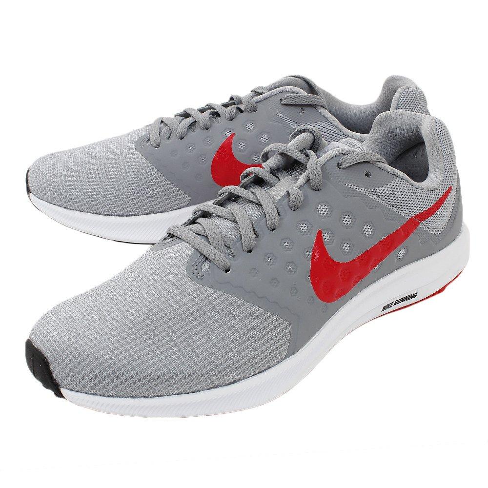 Nike Herren Downshifter 7 Laufschuh, (Wolf grau rot Stealth schwarz), 39 EU D(M)