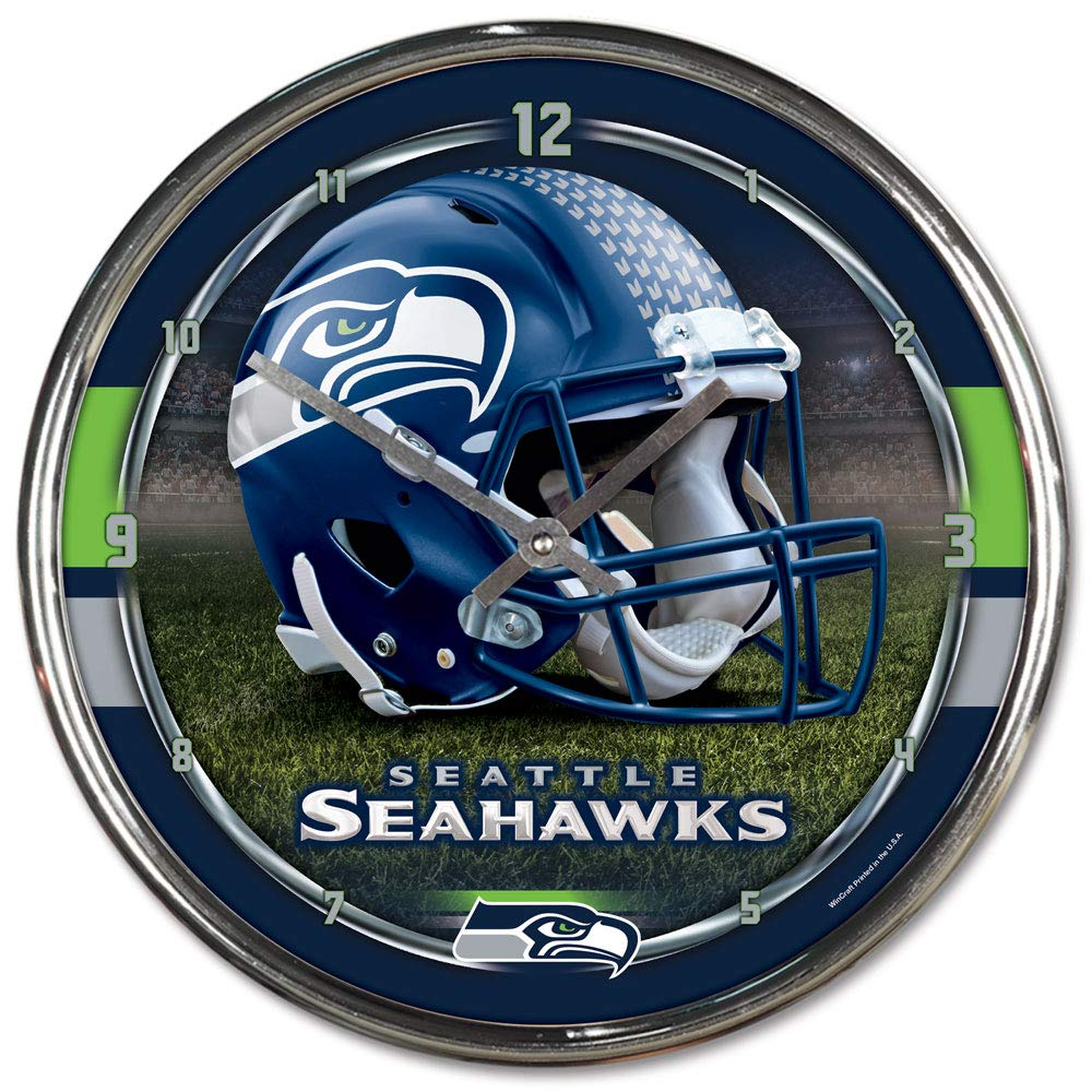 Nfl Football Team Chrome Wall Clock , Seattle Seahawks , 12-Inch by WinCraft