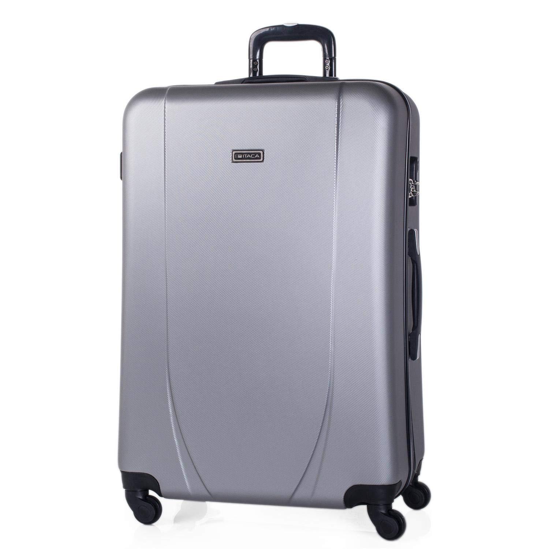 ITACA - 71170トロリースーツケース70 cm XL ABS。堅く、抵抗力があり、強く、軽い。伸縮ハンドル、2つの格納式ハンドル、4つの車輪、カラーシルバー   B072N5X6C2