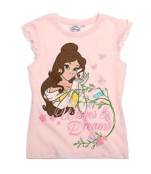 Disney Princess Chicas Camiseta manga corta - Rosa: Amazon.es: Ropa y accesorios