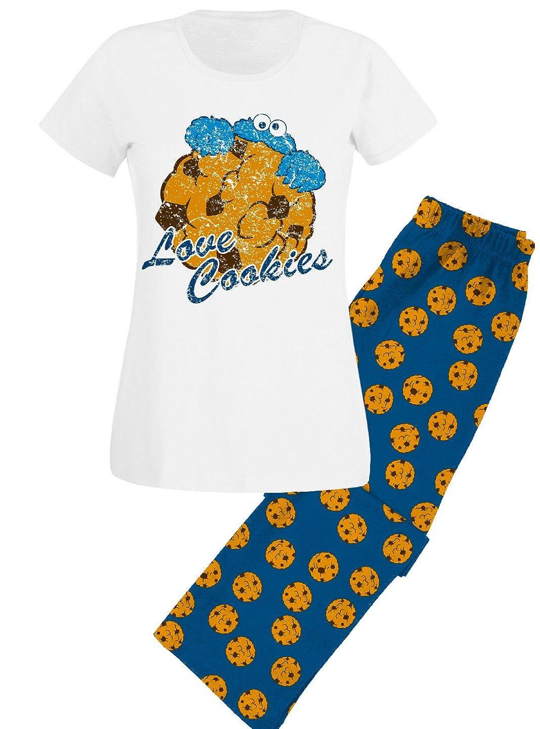 TALLA XL. Sesamstraße Love Cookies - Pijama de El Monstruo de Las Galletas