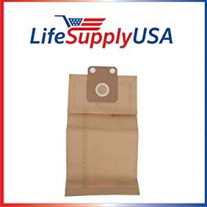 LifeSupplyUSA 2 Packs of 5 (10 count) Replacement Vacuum Paper Bags Compatible with Nilfisk Family CDF Business Commercial CDB Vacs GD1000 Series, Part 82222900