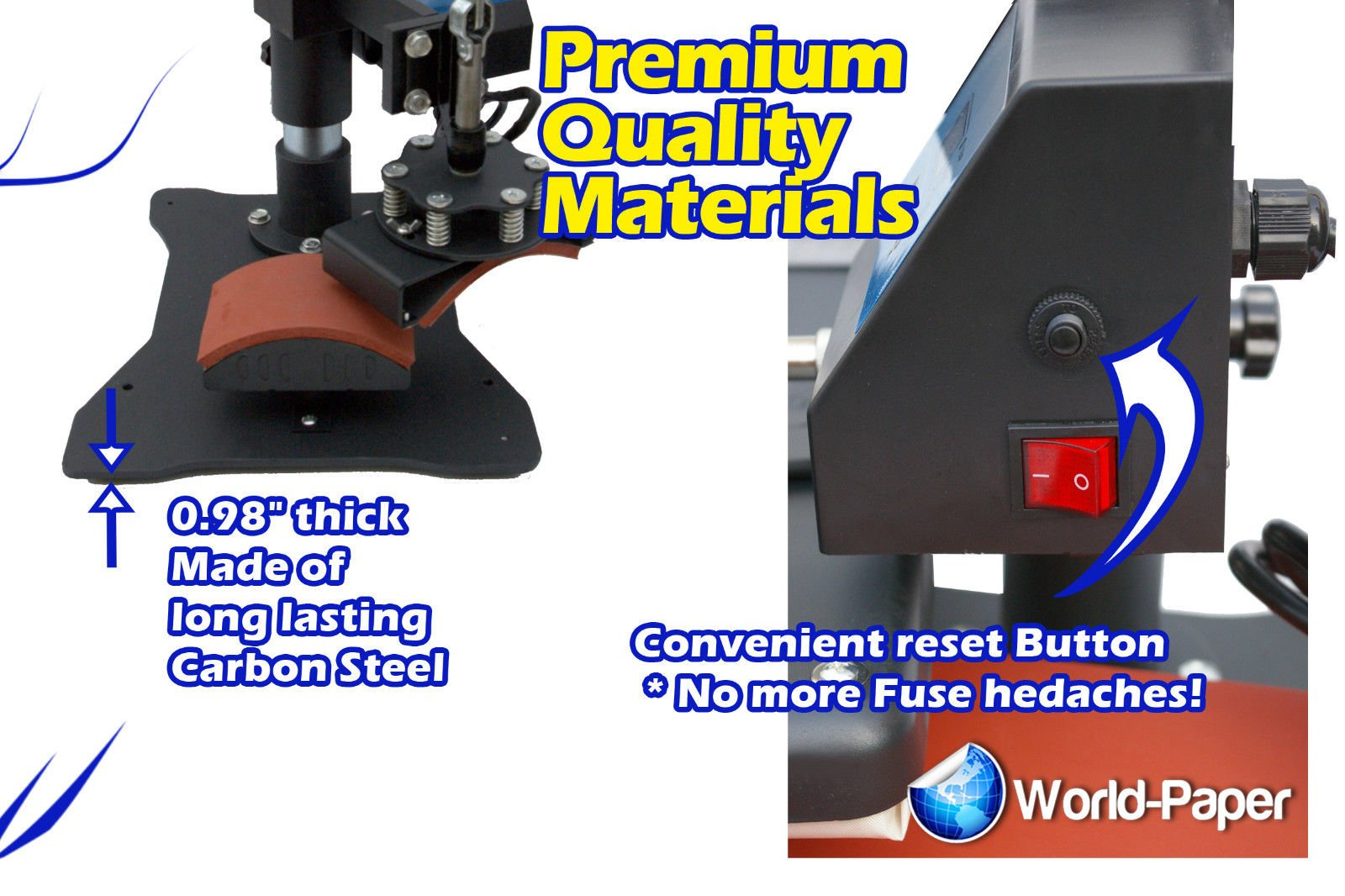 8 in 1 Heat Press Machine for t shirts machine combo kit swing away sublimation by Calor Press