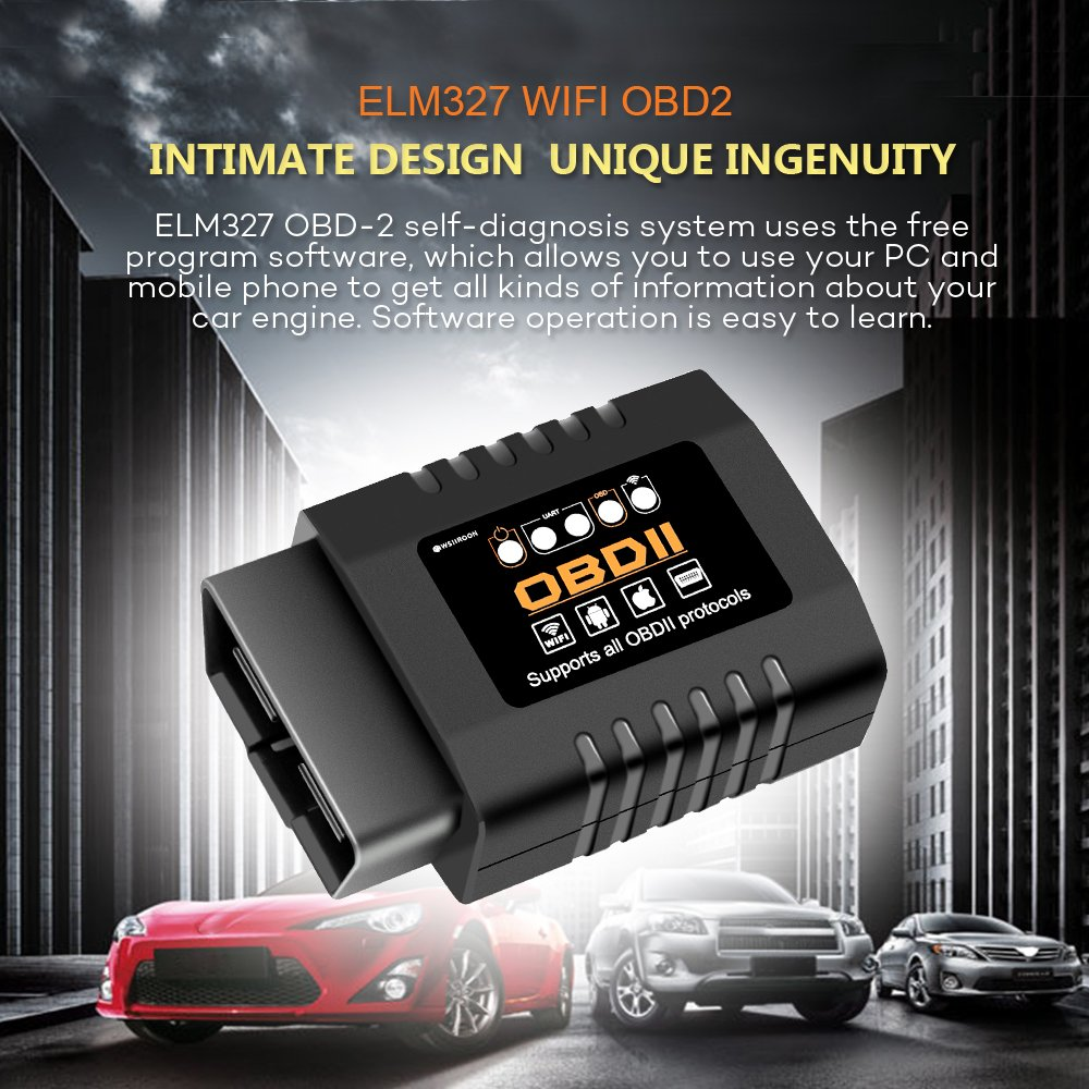Amazon.com: Upgraded Car WiFi OBD2, WSIIROON Professional OBD2 Scan Tool Wireless OBDII Adapter Car Code Reader for iOS Android & Windows Devices(Best Smart ...