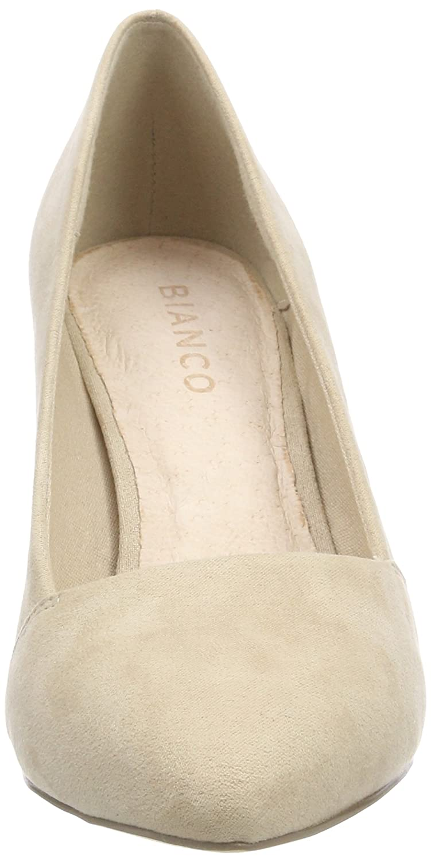Bianco Pumps Damen Loafer Pump 75 Pumps Bianco Beige (Cream) 406979
