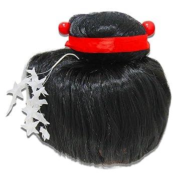 Ousdy Peluca de Geisha/Japonesa 691733 - Negro
