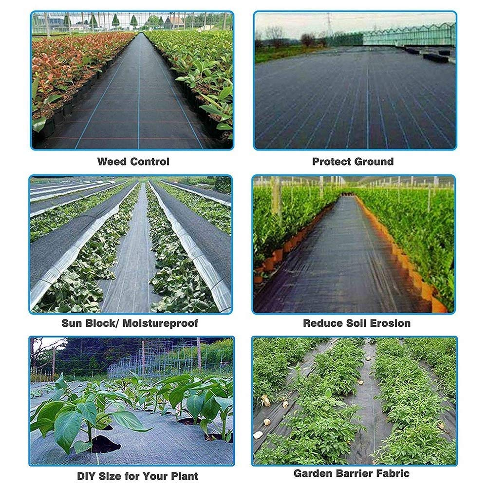 Goasis Lawn Weed Barrier Control Fabric Ground Cover Membrane Garden Landscape Driveway Weed Block Nonwoven Heavy Duty 125gsm Black,3FT x 300FT by Goasis Lawn (Image #6)