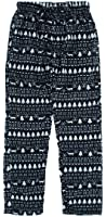 Bottoms Out Men's Black Fair Isle Fleece Pajama Pants