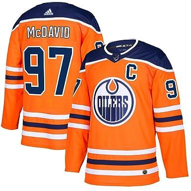 adidas Men's Authentic Connor McDavid #97 Edmonton Oilers Orange Player  Jersey (Size ...
