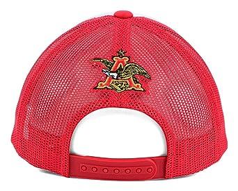 2dbef93863576 Amazon.com  Budweiser Men s Beer Retro Foam Mesh Snapback Trucker Hat Cap  by Top of the World  Clothing