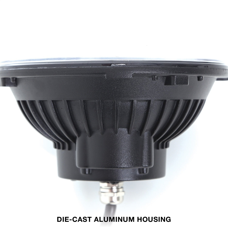 LED Headlight Pro Comp Suspension 76402P LED Headlight Pair Round 7 in
