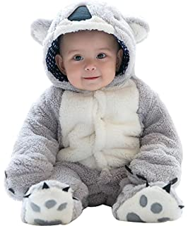 1d89a294b8a7 Amazon.com  mikistory Infant Romper Newborn Unisex Costume for Baby ...