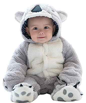 3fa84f0b8619 Amazon.com  BANGELY Newborn Baby Thicken 3D Cartoon Bear Footies ...