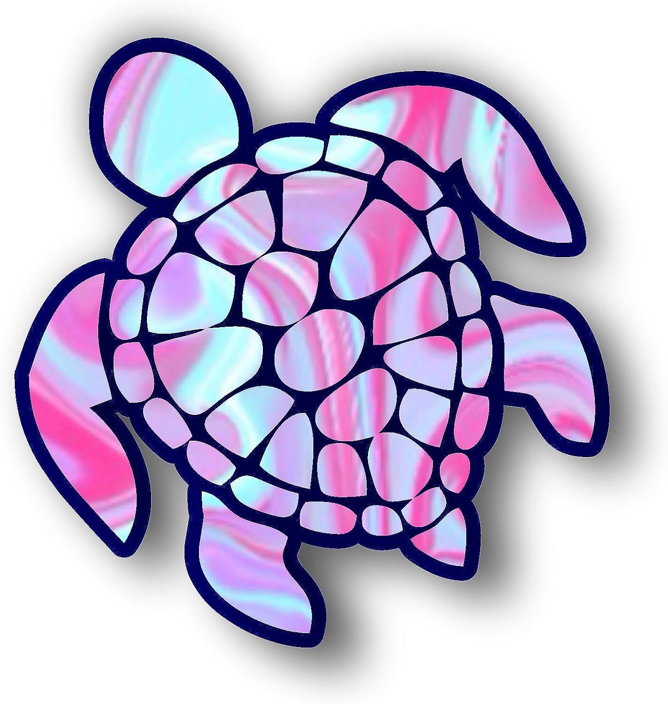Vinyl Junkie Graphics Sea Turtle Decal//Sticker Blue-Green
