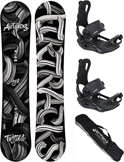 AIRTRACKS Snowboard Set//Pack//Planche Line Wide Rocker Chaussures SB Sac // 150 154 158 162 cm Fixations Master Fastec